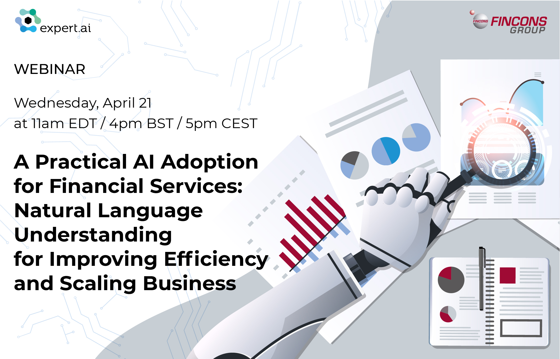 A practical AI Adoption for Financial Services: Natural Language Understanding for improving efficiency and scaling business