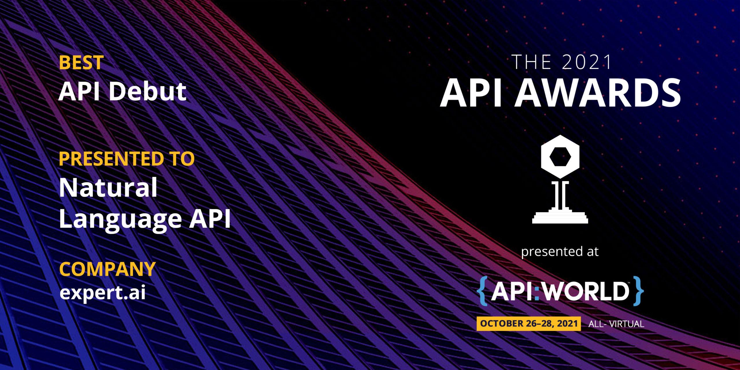 Expert.ai Named Winner in 2021 API Award